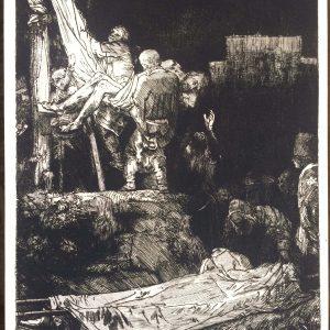 Estampe Rembrandt – Descente De Croix Au Flambeaux