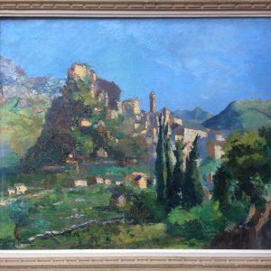 George PRESTAT – Huile sur toile signé – FONTARABIE