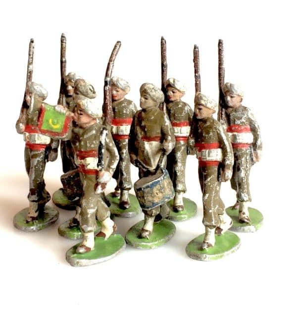Quiralu Soldats De L'armée Indienne Jouet Ancien