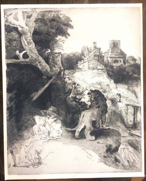 Rembrandt Saint Jerome Au Torrent
