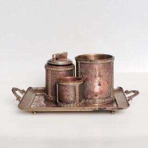 B. WICKER graveur – Nécessaire à fumeur – plateau boite briquet