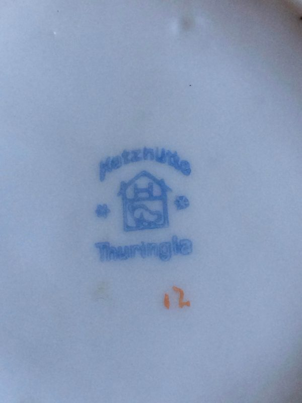 Boite En Porcelaine Signé Katzhütte Thuringia Signature