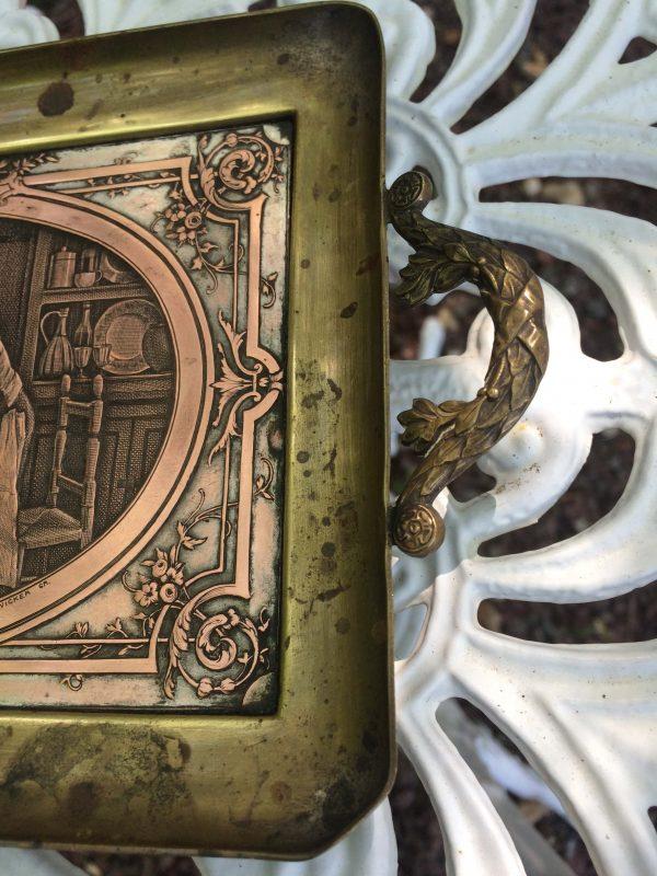 Plaque Gravé Par B Wicker Graveur Poignée