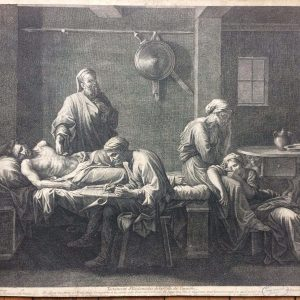 Estampe de Jean Pesne d'après Nicolas Poussin – Le Testament d'Eudamidas
