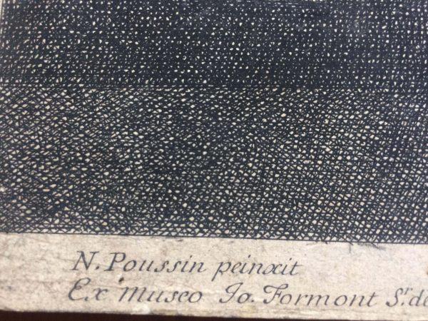 Estampe De Jean Pesne D'après Nicolas Poussin Le Testament D'eudamidas Signature Poussin