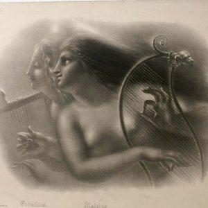 Lithographie de Girodet-Trioson – ERIRALLINA ET MALVINA