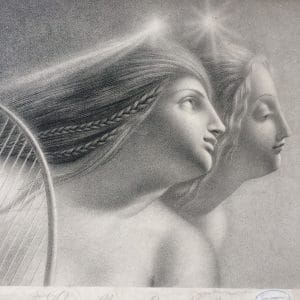 Lithographie de Girodet-Trioson – EVIRALLINA ET MALVINA
