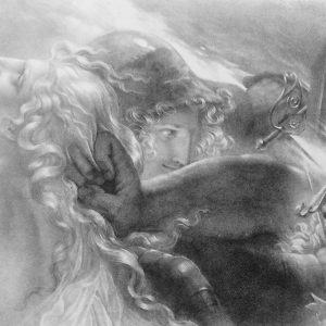 Lithographie de Girodet-Trioson – AGANDECCA ET STARNO
