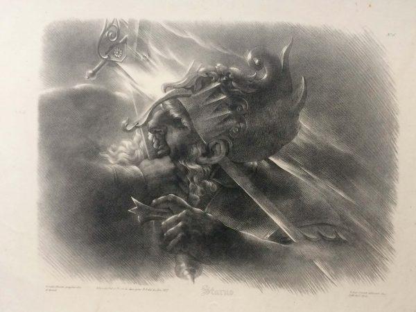 Lithographie De Girodet Trioson Starno