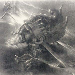 Lithographie De Girodet Trioson Starno Guerrier