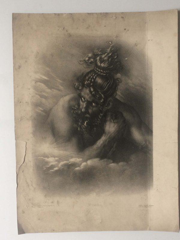 Lithographie De Girodet Trioson Swaran Guerrier