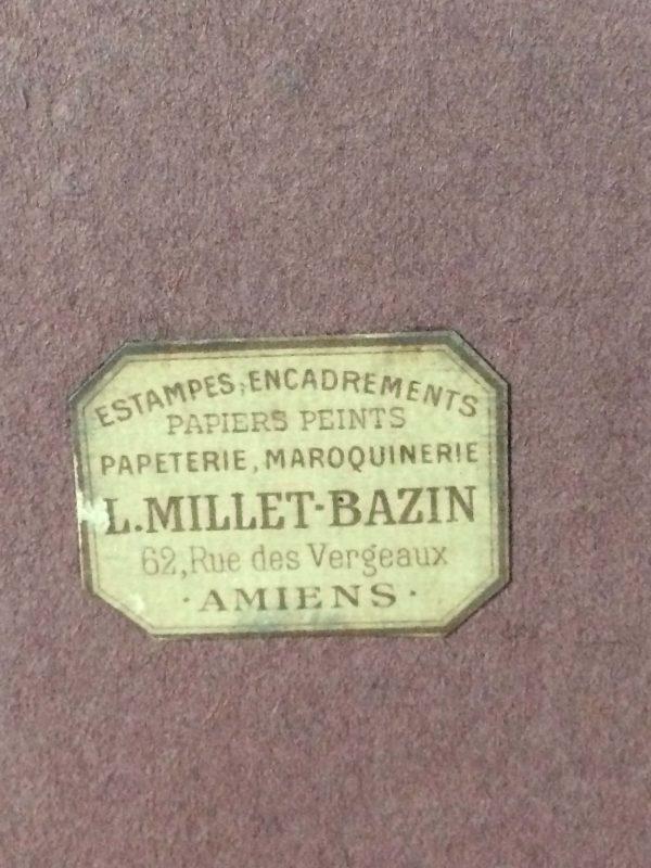 Jules Alexis Muenier La Leçon De Clavecin Lithographie Etiquette Vendeur Amiens