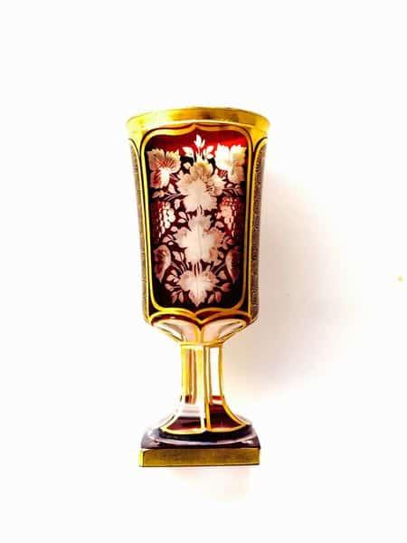 calice en cristal de bohême