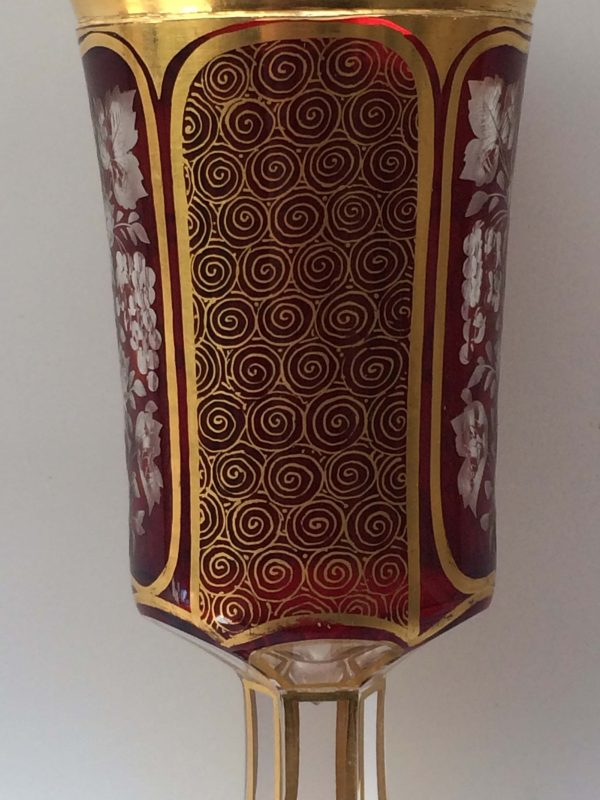 Calice En Cristal De Bohême Gravé
