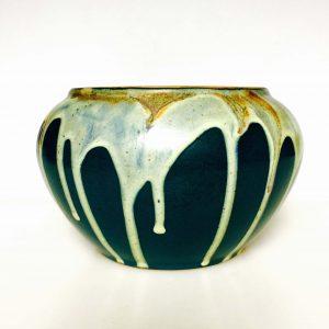 Vase boule en grès de Puisaye – signé Léon POINTU