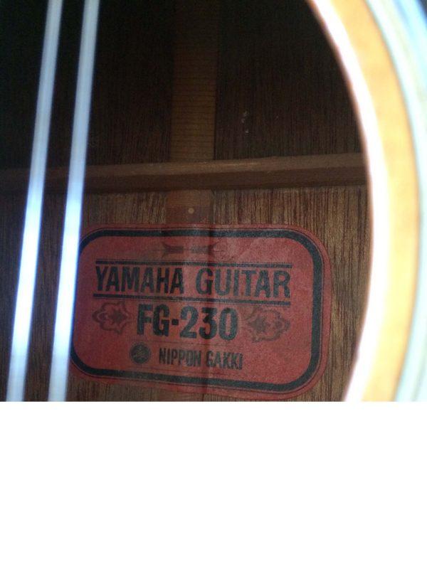 Yamaha Guitare Fg 230 Nippon Gakki Red Label Vu