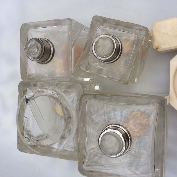 Flacons En Cristal De Bohême Art Déco Bouchon Rodé