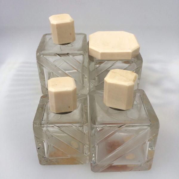 Flacons En Cristal De Bohême Art Déco Vu En Cube