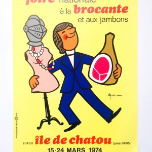 Foire Internationale À La Brocante Il De Chatou 1974