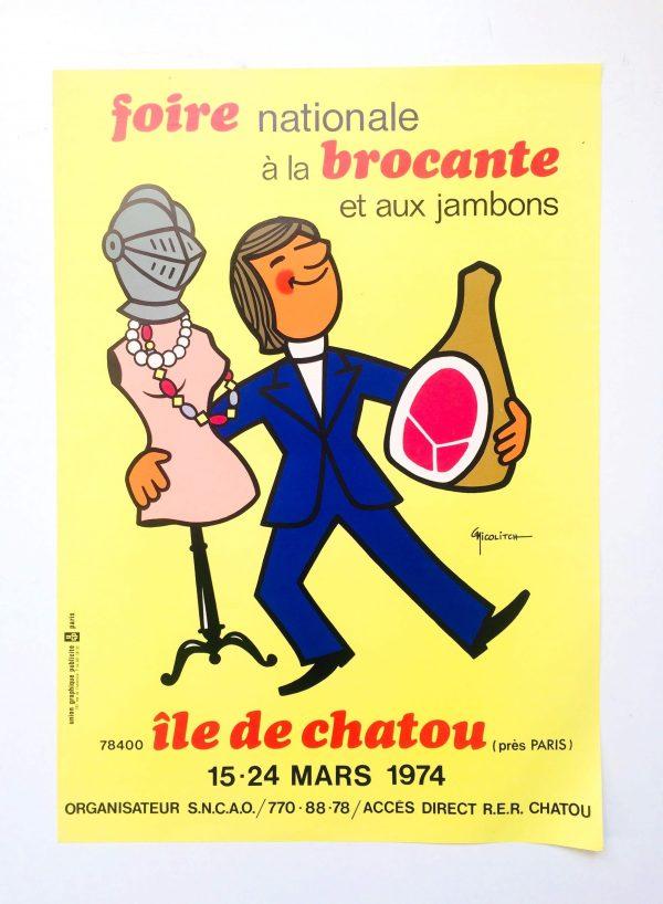 Foire Internationale À La Brocante Il De Chatou 1974