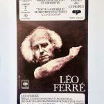 Léo Férré Concert Affiche