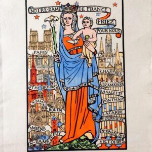 Notre Dame De France Priez Pour Nous Imagerie Du Maréchal 1942
