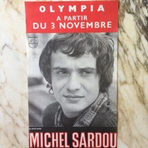 Affiche Michel Sardou À L'olympia