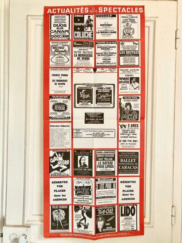 Affiche Actualités Spectacle Vintage