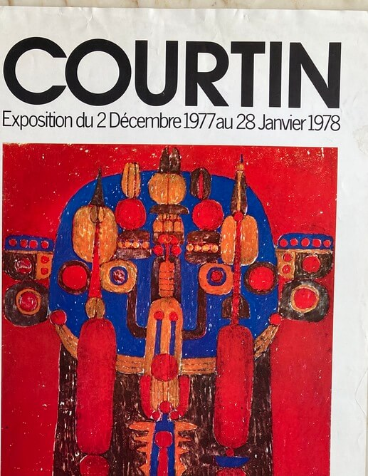 Courtin Affiche Exposition 1978