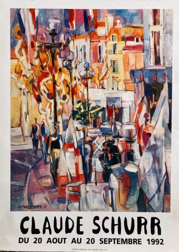Claude Schurr Affiche Exposition Paris