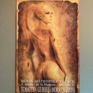 DI-MACCIO Affiche d'exposition à l'Hotêl Métropole Palace de Monaco en 1996