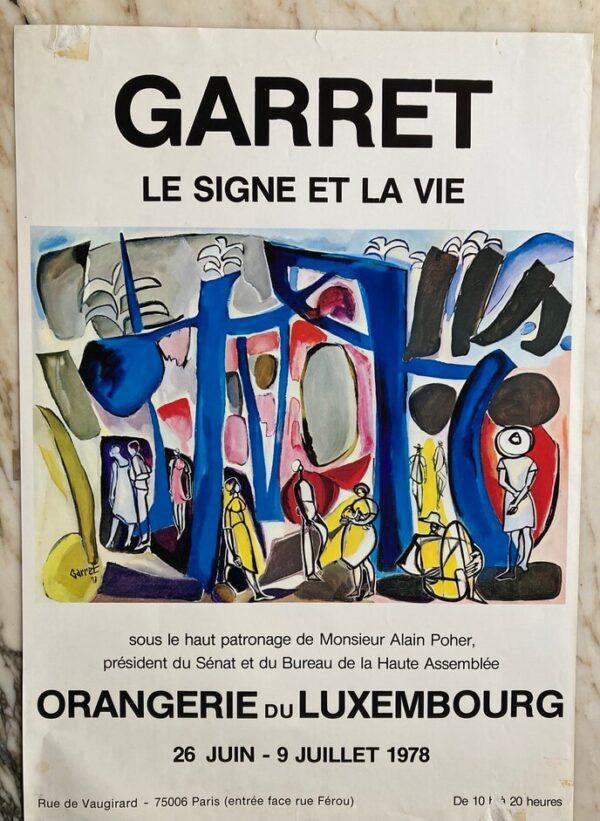 Garret Afiche Exposition Orangerie 1978