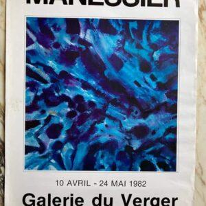 MANESSIER – Affiche exposition Galerie du Verger 1982