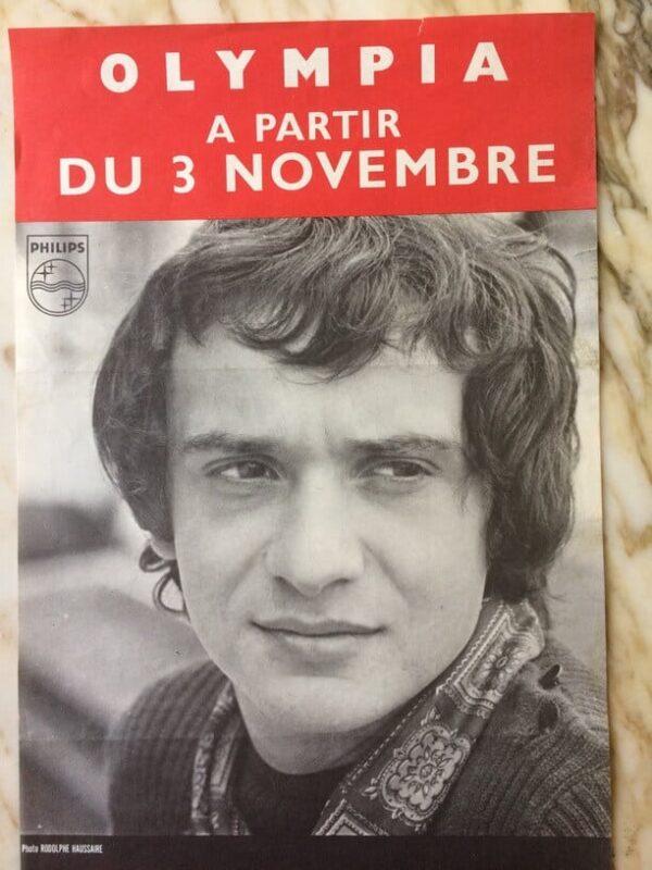 Michel Sardou À L'olympia Affiche De Concert