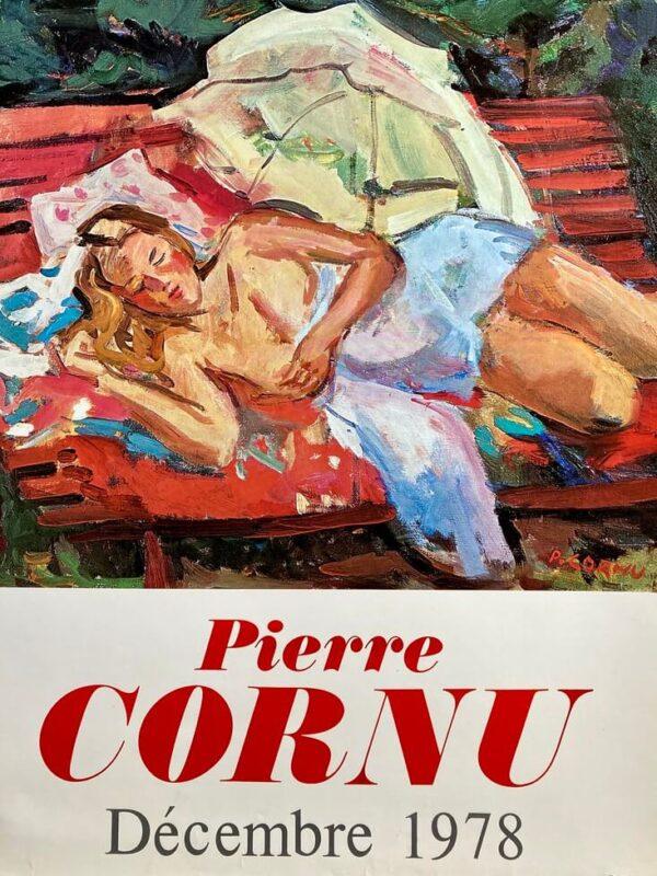Pierre Cornu Affiche Exposition 1978