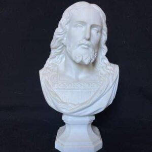 buste de jésus signé raphaël tampon porcelaine de france