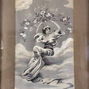 tableau en tissu jacquard d'après un tableau de pierre auguste cot