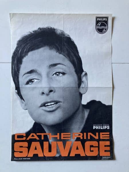 catherine sauvage affiche de spectacle photo julie fontaine