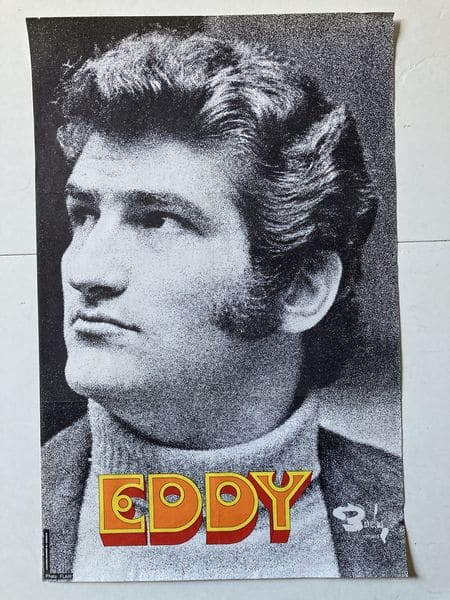 eddy mitchell affiche de spectacle disques barclay