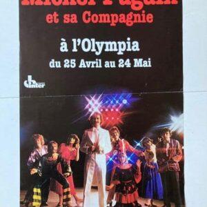 michel fugain à l'olympia affiche de spectacle