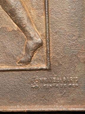 paul belmondo les 3 grâces plaque en fonte signée monnaie de paris estampille