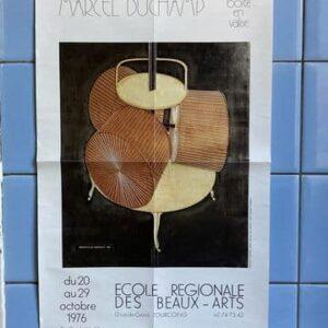 marcel duchamp affiche exposition la boite en vrac tourcoing 1976 - décoration