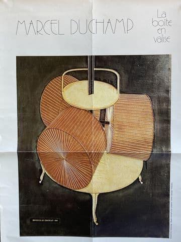marcel duchamp affiche exposition la boite en vrac tourcoing 1976 vintage