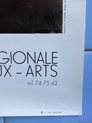 marcel duchamp affiche exposition la boite en vrac