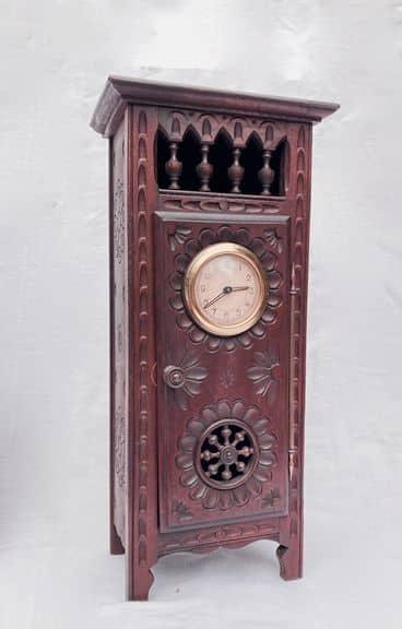 mobilier de poupée breton henriot quimper horloge en bois