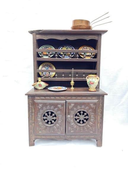 mobilier de poupée breton henriot quimper meubles miniatures buffet ancien