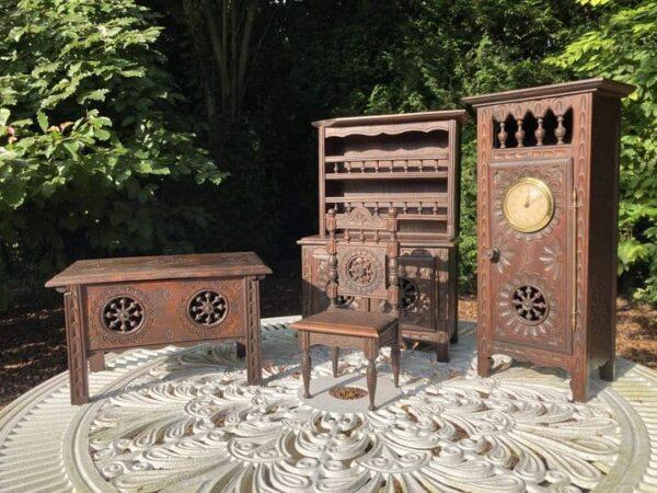 mobilier de poupée breton lot de meubles miniatures anciens