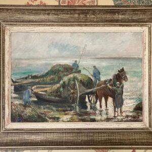 ramasseur de goémons tableau peinture bretagne étienne chevalier