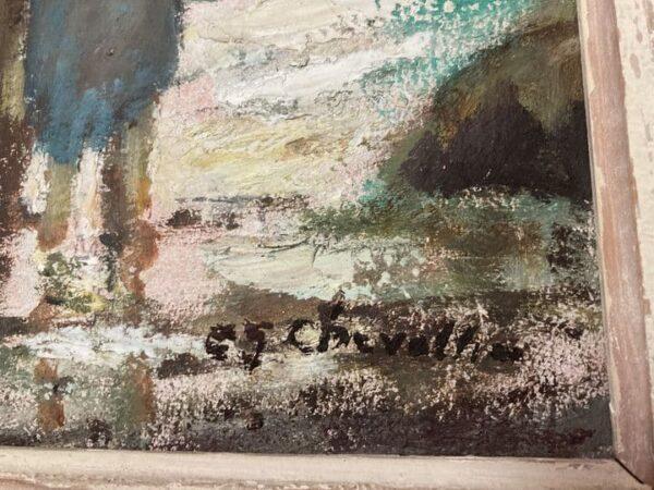 ramasseur de goémons tableau peinture bretagne signature étienne chevalier